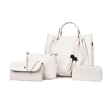 45240476cf Γυναικεία Τσάντες PU Σετ τσάντα 4 σετ Σετ τσαντών Φερμουάρ   Φούντα  Συμπαγές Χρώμα Ανθισμένο Ροζ   Γκρίζο   Καφέ