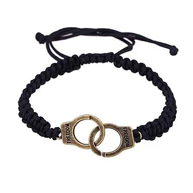 voordelige Herensieraden-Heren Dames loom Bracelet Gevlochten Misdaadpartners handboeien Romantisch Zoet Modieus Rips Armband sieraden Goud / Zilver Voor Verjaardag Lahja Ceremonie