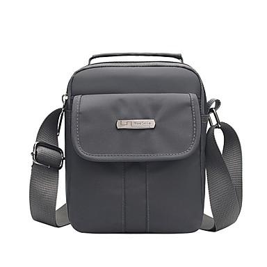 สำหรับผู้ชาย กระเป๋าต่างๆ ผ้าออกซ์ฟอร์ด / สังเคราะห์ กระเป๋าสะพาย ซิป สีทึบ สีน้ำเงิน / สีดำ / สีเทา