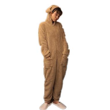 9a298706c Adulto Moletom Pijamas Kigurumi Veado Pijamas Macacão Flanela Café Cosplay  Para Homens e Mulheres Pijamas Animais