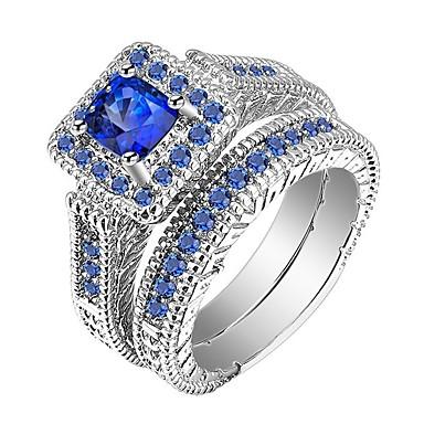 voordelige Herensieraden-Heren Dames Ring Ringen Set 2pcs Blauw Legering Lahja Dagelijks Sieraden plaveien Cool
