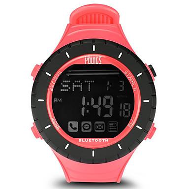 baratos Relógios Senhora-Mulheres Relógio Esportivo Ao ar Livre Fashion Preta Borracha Japanês Digital preto / prateado Impermeável Smart Bluetooth 100 m 1conjunto Digital Um ano Ciclo de Vida da Bateria / LCD