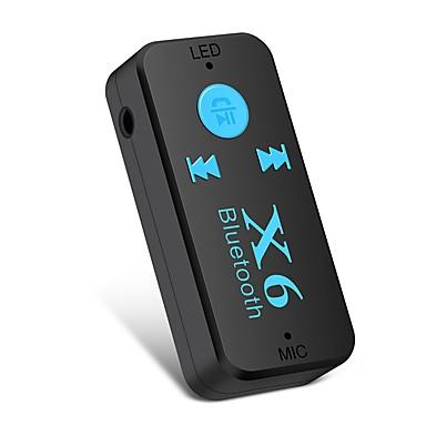 voordelige Automatisch Electronica-Ziqiao x6 adapter bluetooth ontvanger auto auto bluetooth aux kit ondersteuning tf-kaart a2dp audio stereo bluetooth handenvrij ontvanger