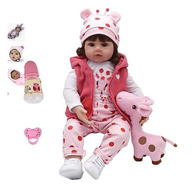 billige Reborn-dukker-NPK DOLL Reborn-dukker Pige Doll Babypiger 18 inch Silikone Vinyl - Nyfødt livagtige Nuttet Håndlavet Børnesikker Ikke Giftig Børne Unisex Legetøj Gave / Forældre-barninteraktion / CE