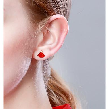 billige Moteøreringer-Dame Øredobber Small Rose gull S925 Sterling Sølv øredobber Smykker Rose Gull Til Bursdag Valentine 1 par