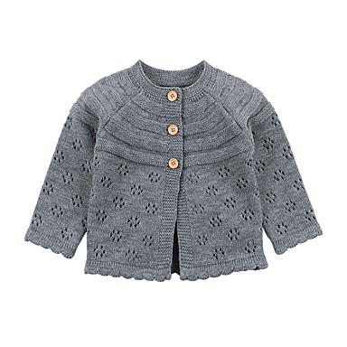 632296cd269 Μωρό Κοριτσίστικα Βασικό Μονόχρωμο Με κοψίματα Κανονικό Ακρυλικό Κοστούμι & Σακάκι  Ανθισμένο Ροζ