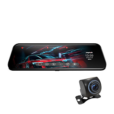 abordables DVR de Voiture-Anytek T12+ 1944p Design nouveau / Lentille double / Enregistrement automatique de démarrage DVR de voiture 170 Degrés Grand angle CMOS 2.0MP 9.7 pouce Dash Cam avec G-Sensor / Mode Parking