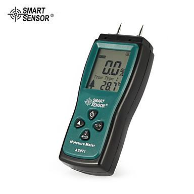 voordelige Test-, meet- & inspectieapparatuur-Smart sensor as971 houtvochtmeter vochtigheid tester hout vocht detector digitale lcd display detector bereik 2% -70%