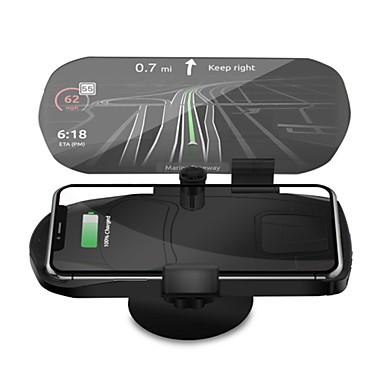voordelige Automatisch Electronica-auto tweede generatie hud display gsm-houder 10 witte draadloze oplader auto head-up projectie navigatieframe