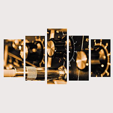 abordables Toiles-Imprimé Impressions sur toile roulées Impression sur Toile - Thème classique Architecture Rétro Vintage Moderne Cinq Panneaux Art Prints