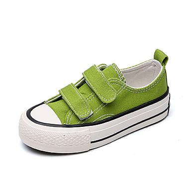 voordelige Babyschoenentjes-Jongens / Meisjes Comfortabel Canvas Sneakers Peuter (9m-4ys) / Little Kids (4-7ys) / Big Kids (7jaar +) Wandelen Geel / Rood / Groen Lente / Rubber