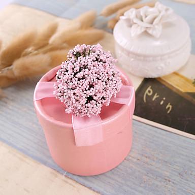 abordables Support de Cadeaux pour Invités-Cylindre Papier durci Titulaire de Faveur avec Ruban / Fleur Boîtes à cadeaux