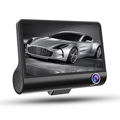 voordelige Automatisch Electronica-HD / Nacht Zicht / Dubbele lens Auto DVR 170 graden Wijde hoek 4 inch(es) IPS Dash Cam met G-Sensor / Bewegingsdetectie / Continu-opname Autorecorder