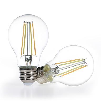 abordables Ampoules électriques-2pcs dimmable led smart amp a19 4.5w verre transparent 120v blanc chaud à la lumière du jour 2700-5000k fonctionne avec alexa (prises écho) sans moyeu requis