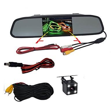 BYNCG WG4.3 4.3 дюймовый TFT-LCD 480TVL 480 ТВ линий 1/4 дюйма CMOS OV7950 Проводное 120° 1 pcs 120 ° 4.3 дюймовый Камера заднего вида / Автомобильный реверсивный монитор / Дисплей заголовка