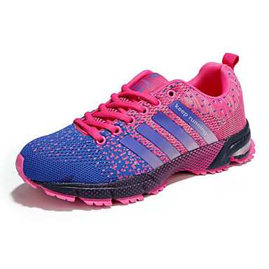 Kadın's Atletik Ayakkabılar Düz Taban Tissage Volant Koşu İlkbahar & Kış Siyah / Beyaz / Siyah / Kırmızı / Mor