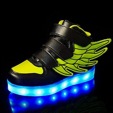 baratos Sapatos de Criança-Para Meninos / Para Meninas Couro Ecológico Tênis Criança (9m-4ys) / Little Kids (4-7 anos) / Big Kids (7 anos +) Conforto / Tênis com LED LED Verde / Azul / Rosa claro Primavera Verão / Outono