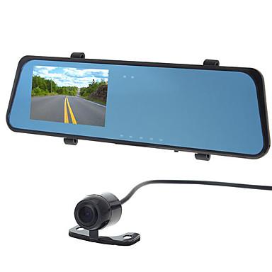 billige Bil-DVR-H701 Dual Lens Bil DVR 120 grader / 130 grader Bred vinkel 4.3 tommers LCD Dash Cam med G-Sensor / Bevegelsessensor / Loop-cycle Recording Bilopptaker