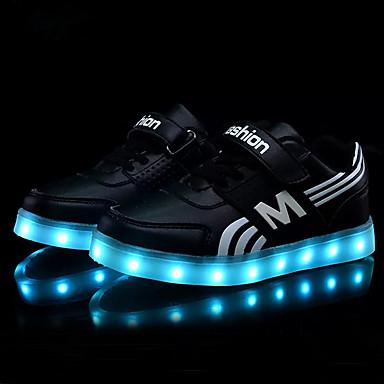 hesapli Kız Çocuk Ayakkabıları-Genç Erkek / Genç Kız PU Spor Ayakkabısı Bebek (9 milyon 4ys) / Küçük Çocuklar (4-7ys) / Büyük Çocuklar (7 yaş +) Işıklı Ayakkabılar Siyah / Mavi / Pembe Bahar / Zıt Renkli / Kauçuk