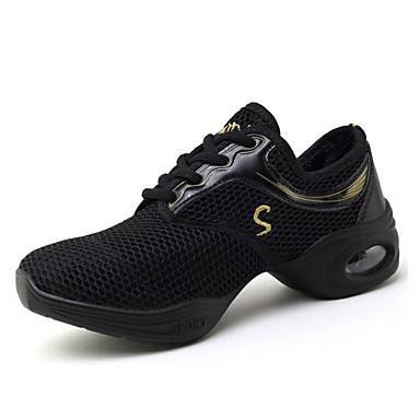 Generoso Per Donna Sneakers Da Danza Moderna Retato Sneaker A Fantasia Piatto Personalizzabile Scarpe Da Ballo Nero E Oro #07280272