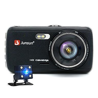 billige Bil-DVR-junsun h7 1296p hd trykkbil dvr 170 graders vidvinkel 1/3 tommers farge cmos 4 tommers ips dash kamera med nattesyn / g-sensor / bevegelsesdeteksjon 2 infrarød leds bilopptaker