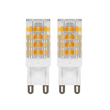 billige Elpærer-2pcs 5 W LED-lamper med G-sokkel 420 lm G9 T 52 LED perler SMD 2835 Dekorativ Varm hvit 220 V 110 V