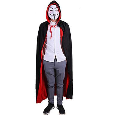 Merirosvo Cosplay-Asut Viitta Miesten Naisten Elokuva Cosplay Cosplay Halloween Musta Viitta Halloween Karnevaali Masquerade Tekstiili