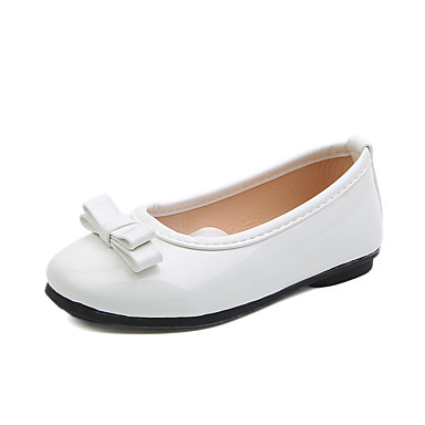 voordelige Babyschoenentjes-Meisjes Comfortabel Imitatieleer Platte schoenen Peuter (9m-4ys) / Little Kids (4-7ys) / Big Kids (7jaar +) Strik Geel / Rood / Roze Lente / Herfst / Bruiloft / Bruiloft