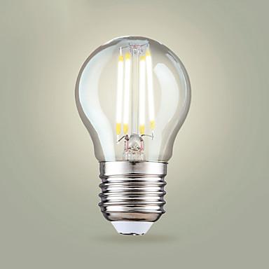 4PCS 4 W مصابيحLED 400 lm E26 / E27 A65 4 الخرز LED COB أبيض دافئ أبيض كول 200-240 V