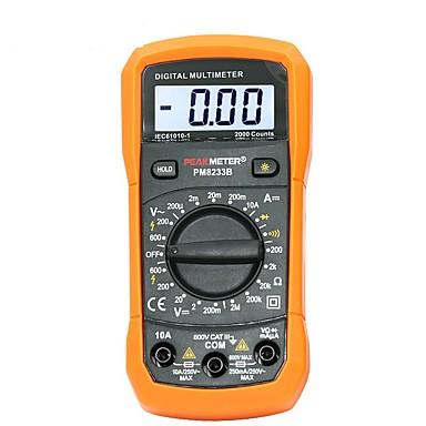 voordelige Test-, meet- & inspectieapparatuur-digitale multimeter tester 2000 telt lcd-scherm multimetro dc ac voltmeter frequentie draagbare tester pm8233d