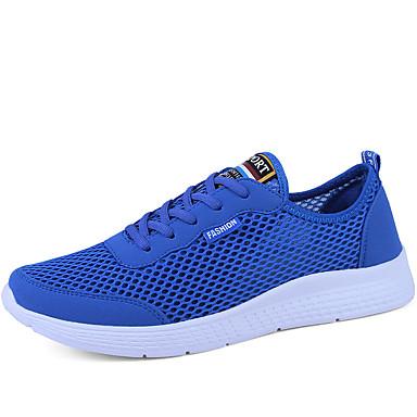 Erkek Ayakkabı Örümcek Ağı İlkbahar yaz Sportif / Çıtı Pıtı Atletik Ayakkabılar / Spor Ayakkabısı Koşu / Yürüyüş Günlük / Dış mekan için Siyah / Gri / Mavi