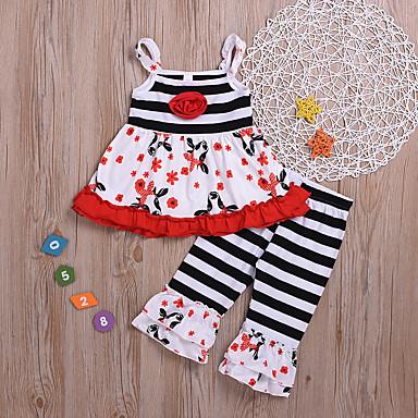 504d64f4b211 Χαμηλού Κόστους Ρούχα για Κορίτσια-Παιδιά   Νήπιο Κοριτσίστικα Βασικό  Στάμπα Αμάνικο Βαμβάκι   Πολυεστέρας