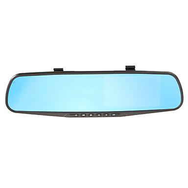 billige Bil-DVR-1080p HD / Nattsyn Bil DVR 170 grader Bred vinkel 4.3 tommers TFT LCD Skjerm / Speil Dash Cam med Night Vision / G-Sensor / Bevegelsessensor Bilopptaker