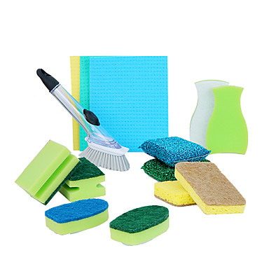 Kitchen Cleaning Supplies Microfiber Sponge polyester fibre ...