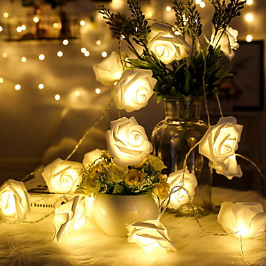 3m ruusun merkkivalot 20 ledit lämmin valkoinen häät loma tapahtumia ja osapuolten koriste aa akut 1 sarja