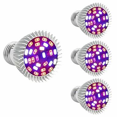abordables Ampoules électriques-4pcs 28 W Ampoule en croissance 800 lm E26 / E27 28 Perles LED SMD 5730 Décorative Multicolores 85-265 V