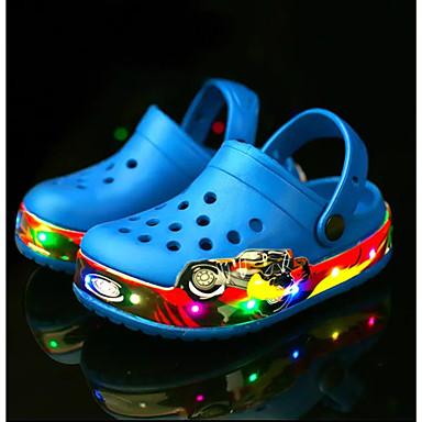 voordelige Babyschoenentjes-Jongens / Meisjes Noviteit / Oplichtende schoenen Nylon / Latex Sandalen Peuter (9m-4ys) / Little Kids (4-7ys) Waterschoenen / Rivierschoenen Kwastje / LED Roze / Marine Blauw Zomer