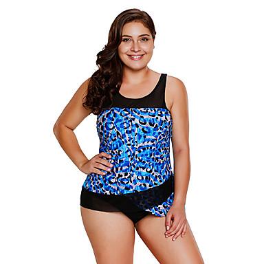 Mujer Traje de baño de talle alto Bañadores Transpirable Secado rápido Sin Mangas Natación Deportes acuáticos Retazos Verano
