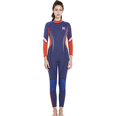 Dive&Sail Women's Full Wetsuit 3mm SCR Neoprene Diving Suit Waterproof Zipper High Elasticity Long Sleeve Back Zip Patchwork Autumn / Fall Spring Summer