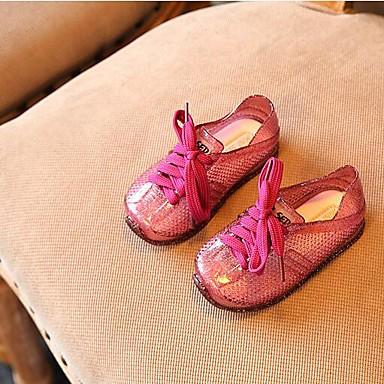 voordelige Babyschoenentjes-Meisjes Comfortabel PVC Platte schoenen Peuter (9m-4ys) / Little Kids (4-7ys) Goud / Zilver / Paars Lente