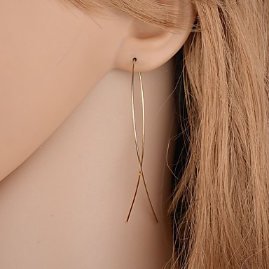 voordelige Oorbellen-Dames Ring oorbellen crossover Eenvoudig Europees Modieus Modern oorbellen Sieraden Goud / Zilver Voor Dagelijks Straat Werk 1 paar