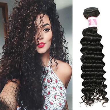 voordelige Weaves van echt haar-4 bundels Braziliaans haar Diepe Golf 100% Remy haarweefselbundels Menselijk haar weeft Bundle Hair Extentions van mensenhaar 8-28 inch(es) Natuurlijke Kleur Menselijk haar weeft Eenvoudig Geurvrij