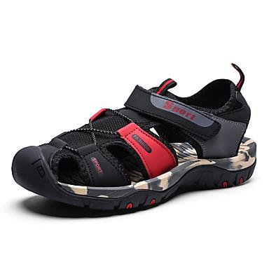 בגדי ריקוד גברים נעלי נוחות רשת קיץ / אביב קיץ יום יומי סנדלים נושם צהוב / שחור אדום