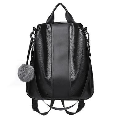 PU Vetoketjuilla Backpack Päivittäin Ruskea / Musta