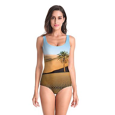 V6 نسائي ملابس السباحة Elastane بودي سوت الدفء متنفس سريع جاف بدون كم سباحة بقع الصيف / قابل للبسط