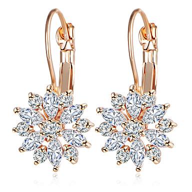 voordelige Dames Sieraden-Dames Clip oorbellen meetkundig Bloem Gesimuleerde diamant oorbellen Sieraden Goud Rose / Goud / Zilver Voor Dagelijks 2pcs