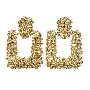 baratos Bijuteria de Mulher-Mulheres Brincos Compridos Geométrico Estiloso Vintage Na moda Brincos Jóias Dourado Para Festa Diário Festival 1 par