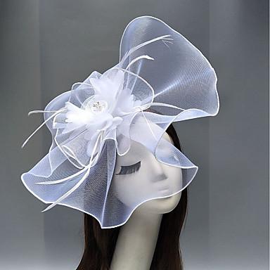 abordables Coiffes-Filet Kentucky Derby Hat / Fascinators / Coiffe avec Fleur / Ornement 1 Pièce Mariage / Occasion spéciale Casque / Pince à cheveux