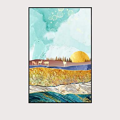 billige Trykk-Trykk Valset lerretskunst - Abstrakt Klassisk Kunsttrykk