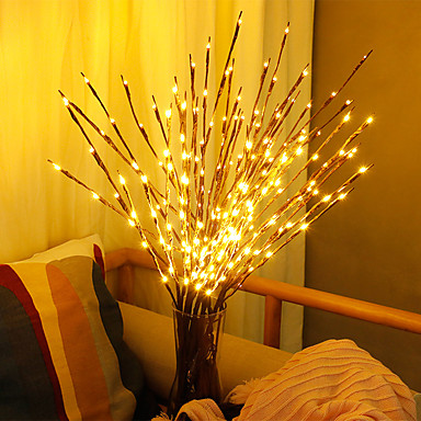 billige LED-stringlys-Plantas artificiais levou salgueiro galho luzes 20 lâmpadas plantas de plástico decoração de casamento para casa plantas falsas